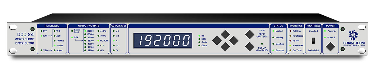 Brainstorm Electronics DCD-24 Front Panel