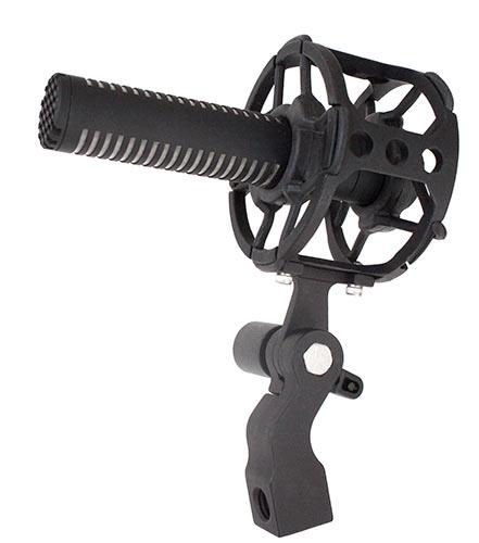 Sanken's CS-M1 is shown with optional KS-M1 shock mount
