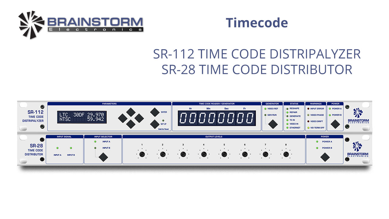 SR-112 and SR-28 Timecode Sync Solutions